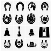 Horseshoe Collection — Stock Vector