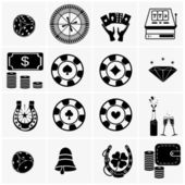 Icons set Casino — Stock Vector
