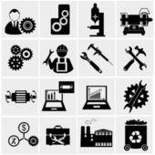 Industrial, engineering work — Stock Vector