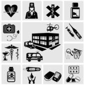Icone mediche — Vettoriale Stock
