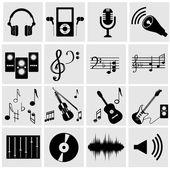 Music icons — Wektor stockowy
