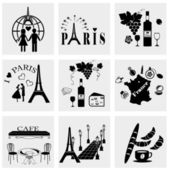 Paris symbols — Stock Vector