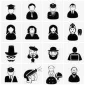 Professions icons — Stockvektor
