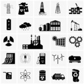Energy, electricity, power icons — Stock Vector
