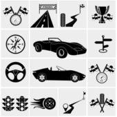 Závodní a rychlostní ikony — Stock vektor