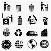Recyclable materials icons — Stock Vector