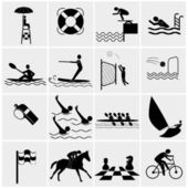 Water Sport Icons — Stock Vector