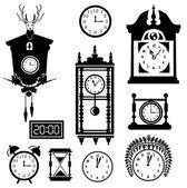 Clocks icon set — Stock Vector