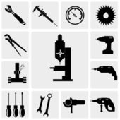Tool and hardware icons — Stock Vector