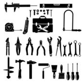 Construction tool collection — Stock Vector