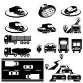 Transport set — Stock Vector