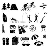 Camping symbole — Stockvektor