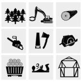Woodworking industry — Stock Vector