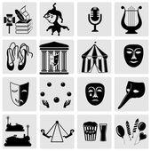 Amusement Park icons — Stock Vector