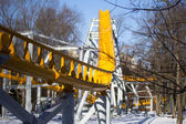 Yellow roller coaster — Stock Photo