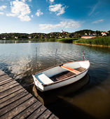 Boat on the lake — Stock Photo
