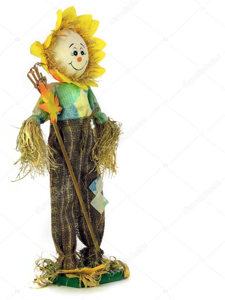 一个快乐的稻草人手工制作木偶常设