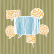 Brainstorm. Discussion or Chat and Speech bubbles — Imagen vectorial