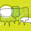 Brainstorm. Discussion or Chat and Speech bubbles — Imagens vectoriais em stock