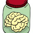 Brain in a jar - Stock Vector