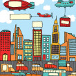 Royalty-Free Stock Vector Image: Busy cartoon city