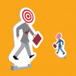 Stock Vector: Businessmen standing as targets