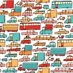 Cartoon cars seamless pattern — Stock Vector