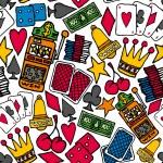 Gambling Seamless pattern. Casino background — Stock Vector