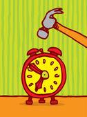 Uccidendo il concetto di tempo — Vettoriale Stock