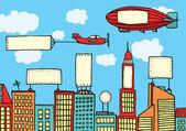 Advertising city — Stock Vector