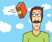 Jeter les livres — Vecteur