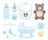 Baby icon set or Child stuff — Stock Vector