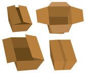 Ensemble de boîtes en carton — Vecteur