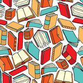 Бесшовные книга шаблон или фон обои — Cтоковый вектор