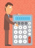 Business calculator. Doing the numbers — Stock Vector