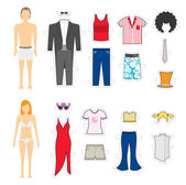 Giyim makyaj. görünüm değiştirme — Stok Vektör