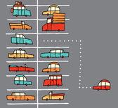 Vector cartoon parking spot — Stock Vector