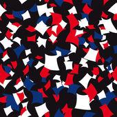 Seamless Patriotic Confetti Pattern — Stock Vector