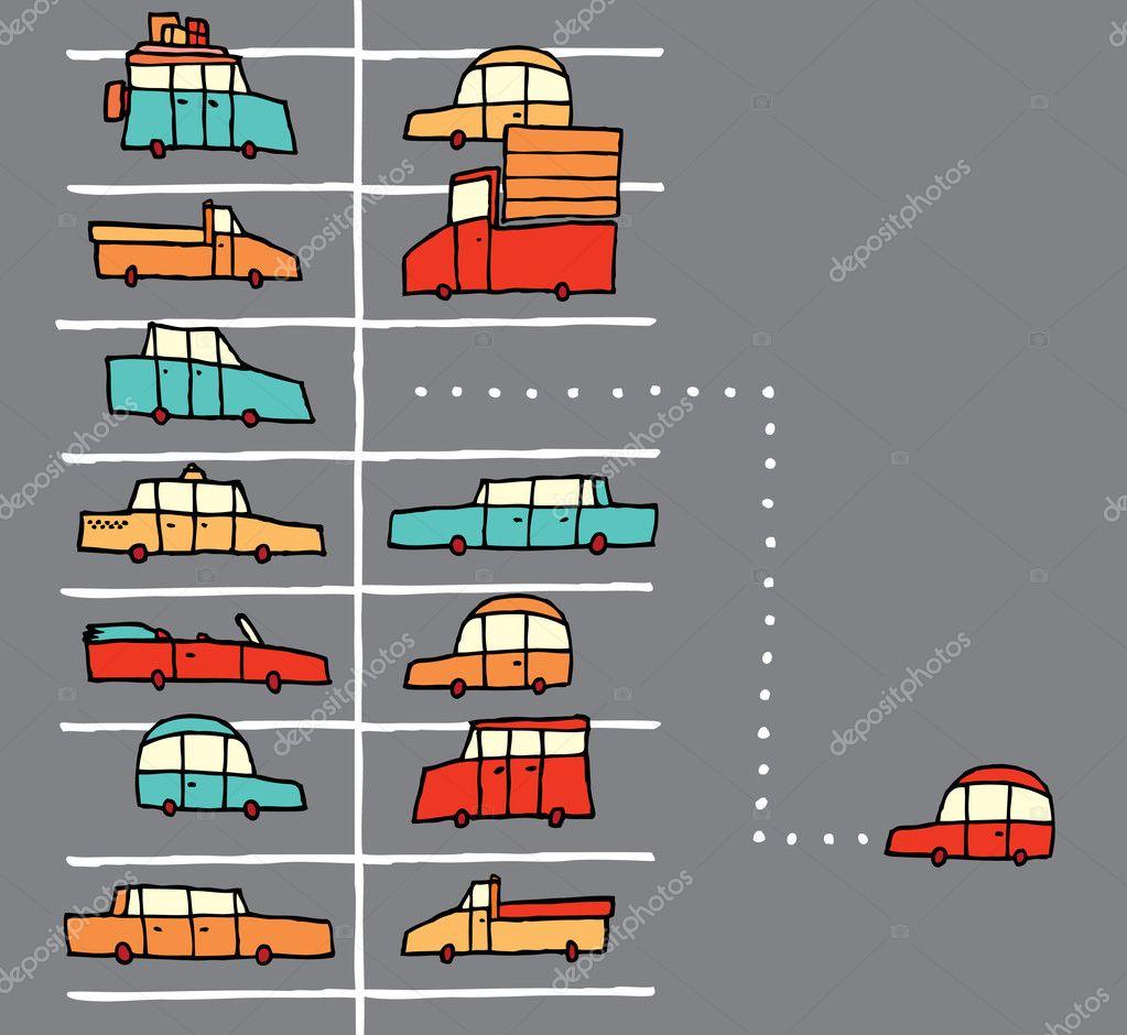 vector de dibujos animados de aparcamiento vector de stock curvabezier 23838733. Black Bedroom Furniture Sets. Home Design Ideas