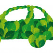 Stock Vector: Environmental Green Car