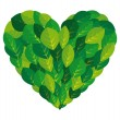 Royalty-Free Stock Vector Image: Leaf plant ecology heart