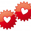 Royalty-Free Stock Imagen vectorial: Valentine card heart icon. Love concept feelings