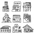 Royalty-Free Stock Vector Image: House icon set. Architecture