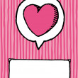 Love and copyspace. Valentine heart card - Imagen vectorial