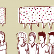 Dialog women and men or Sweet talker - Imagen vectorial