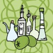 Olive and derivatives - Imagen vectorial