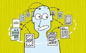 Informační design a zpracování dat — Stock vektor