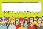 Crowd speaking together — Stock Vector
