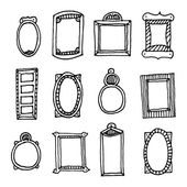 Hand drawn vector frame set — Stock Vector