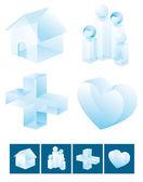 Icon set. Family values — Stock Vector